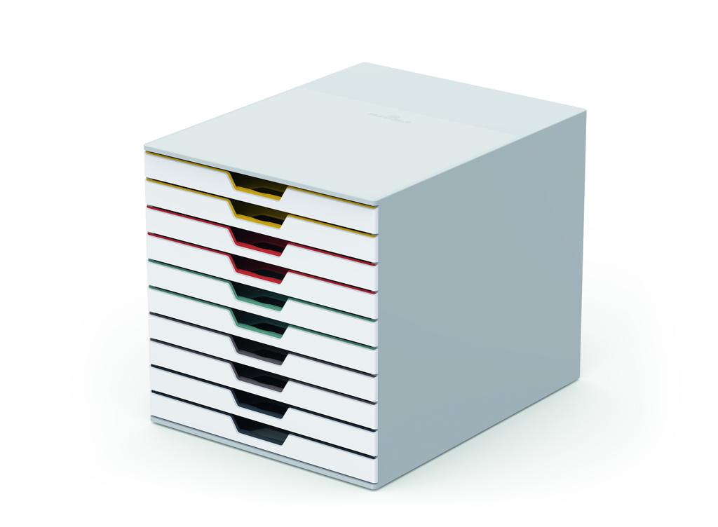 Zásuvkový box VARICOLOR® MIX - 10 zásuvek / bílá