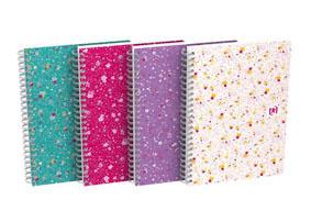 Blok Oxford Floral - A5 / linka / 60 listů / mix motivů
