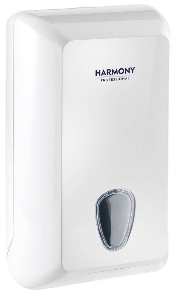 Zásobník na skladaný toaletní papír Harmony Professional  - bílá / 300 x 132 x 170 mm