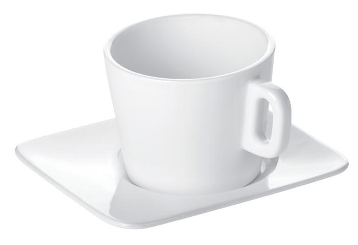 Porcelánové šálky s podšálkem Gustito -  na cappuccino