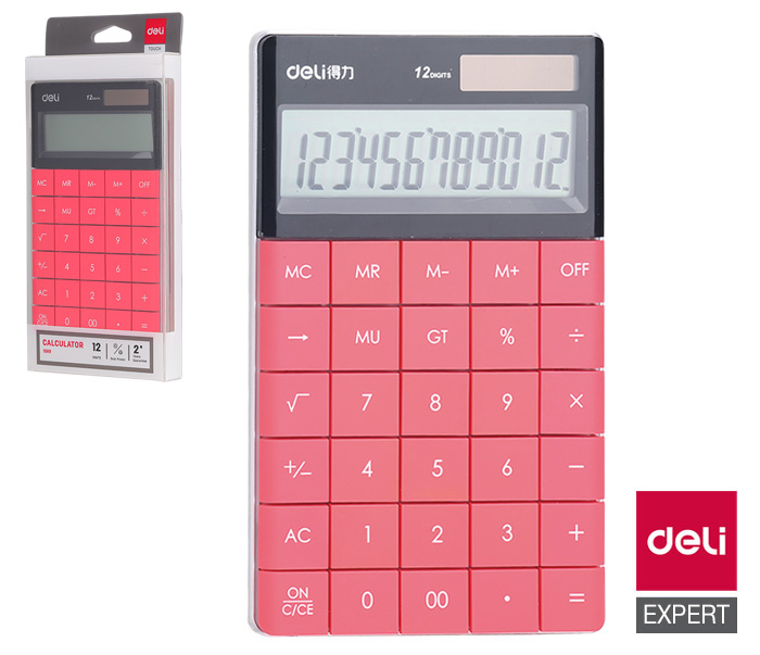 Kalkulačka DELI E1589 červená