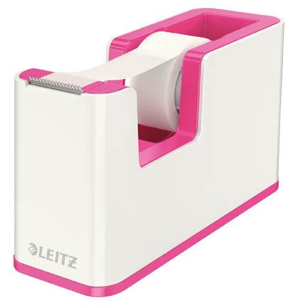 Stolní odvíječ lepicí pásky Leitz WOW - růžová
