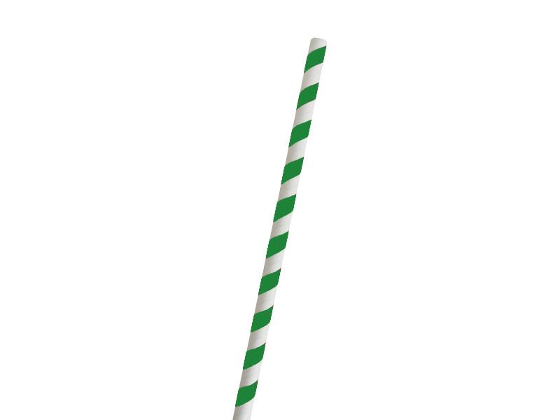 Dekos BIO papírová brčka 250 ks zeleno-bílé